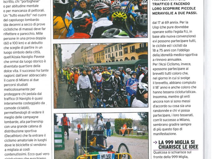 MiRando Milano su La Bicicletta di marzo 2017